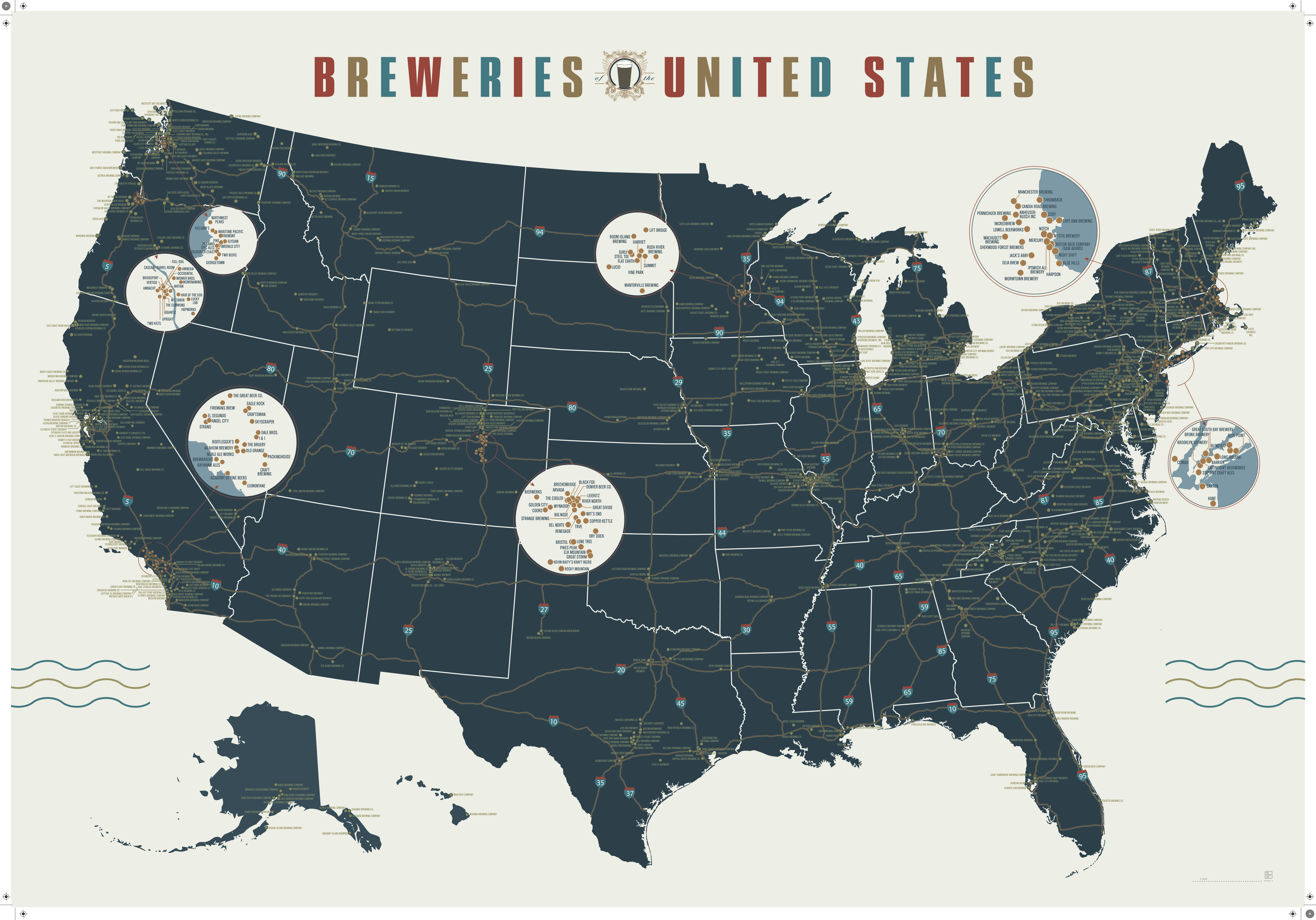 Beer Lovers How To Get A FREE Breweries Of The United States Map - Beer Map Of The Us