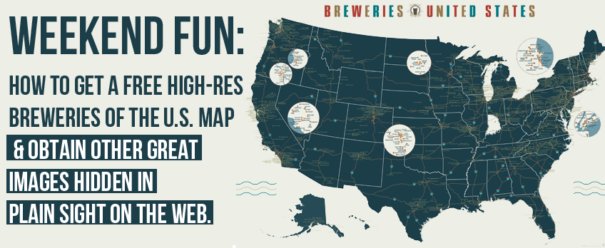 High Res Us Map.Beer Lovers How To Get A Free Breweries Of The United States Map